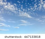 beautiful clouds with blue sky... | Shutterstock . vector #667133818