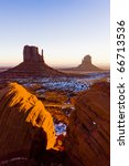 the mittens  monument valley... | Shutterstock . vector #66713536