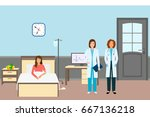 medical doctor and nurse with a ... | Shutterstock .eps vector #667136218