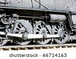 detail of steam locomotive ... | Shutterstock . vector #66714163