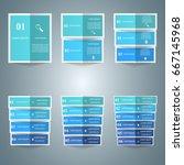 3d infographic design template... | Shutterstock .eps vector #667145968