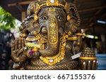 hindu god ganesha. ganesha idol. | Shutterstock . vector #667155376