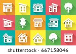 icon gallery of simple house... | Shutterstock .eps vector #667158046