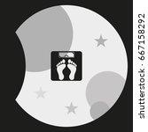 weighting icon. weight watchers ... | Shutterstock .eps vector #667158292