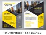 business brochure. flyer design.... | Shutterstock .eps vector #667161412