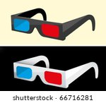 anaglyph  3d glasses | Shutterstock .eps vector #66716281