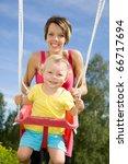 mother swinging her daughter   Shutterstock . vector #66717694