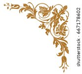 golden vintage baroque ornament ... | Shutterstock .eps vector #667178602