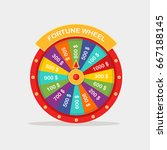 color spinning fortune wheel... | Shutterstock .eps vector #667188145
