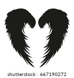 wings. vector illustration on...   Shutterstock .eps vector #667190272
