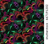 endless abstract pattern.... | Shutterstock .eps vector #667191202