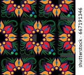 endless abstract pattern.... | Shutterstock .eps vector #667191346