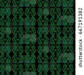 endless abstract pattern.... | Shutterstock .eps vector #667191382