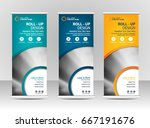 roll up banner stand template... | Shutterstock .eps vector #667191676