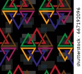 endless abstract pattern.... | Shutterstock .eps vector #667192096