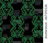 endless abstract pattern.... | Shutterstock .eps vector #667192126