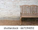dirty white brick wall with the ... | Shutterstock . vector #667194052