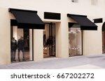 fashion storefront mockup | Shutterstock . vector #667202272