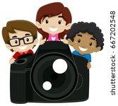 vector illustration of children ... | Shutterstock .eps vector #667202548