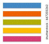 set of multicolored school... | Shutterstock .eps vector #667203262
