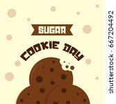 national sugar cookie day... | Shutterstock .eps vector #667204492