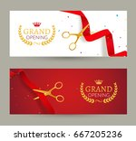 grand opening invitation banner.... | Shutterstock .eps vector #667205236