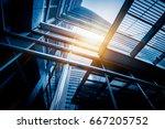bottom view of modern... | Shutterstock . vector #667205752