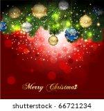 magic christmas background. | Shutterstock .eps vector #66721234