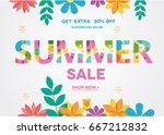 summer sale banner  sale poster ... | Shutterstock .eps vector #667212832