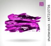 Purple Brush Stroke And Textur...