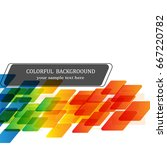 rainbow colorful square sort... | Shutterstock .eps vector #667220782