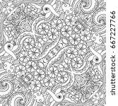 vector abstract nature line art ... | Shutterstock .eps vector #667227766