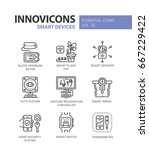 smart device   modern color... | Shutterstock .eps vector #667229422