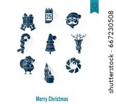 christmas and winter icons...   Shutterstock .eps vector #667230508