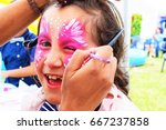 face painting  artist painting... | Shutterstock . vector #667237858