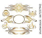 decorative monograms and... | Shutterstock .eps vector #667237942