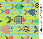 seamless pattern background... | Shutterstock .eps vector #667240072