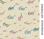 different glasses types... | Shutterstock .eps vector #667240462