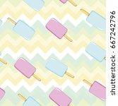 ice cream  pattern  vector ... | Shutterstock .eps vector #667242796