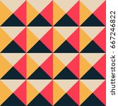 vintage style triangles and... | Shutterstock .eps vector #667246822
