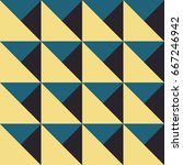 vintage style triangles and... | Shutterstock .eps vector #667246942