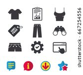 clothes icons. t shirt and...