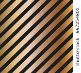 gold diagonal lines pattern on... | Shutterstock .eps vector #667254802