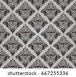 dark vintage bird seamless... | Shutterstock .eps vector #667255336