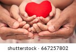 red heart in child kid  mother... | Shutterstock . vector #667257802