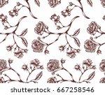 vector illustration of vintage... | Shutterstock .eps vector #667258546