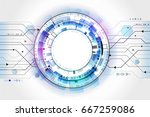 hi tech computer technology... | Shutterstock .eps vector #667259086