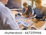 business people meeting to... | Shutterstock . vector #667259446