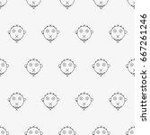 vector seamless pattern.... | Shutterstock .eps vector #667261246