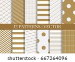 pattern tile swatches included. ... | Shutterstock .eps vector #667264096